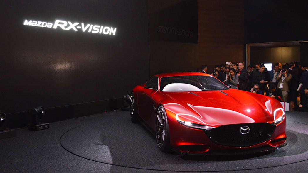 mazda rx-vision concept with sign