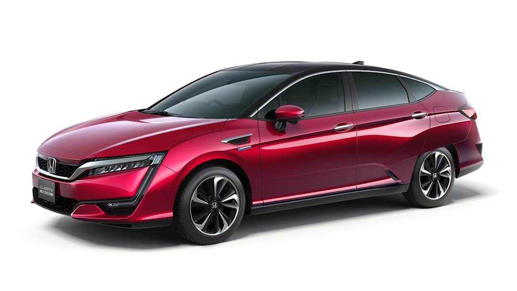 Honda Clarity Fuel Cell red