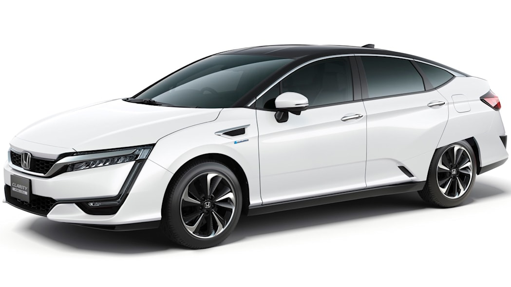 White Honda Clarity Fuel Cell