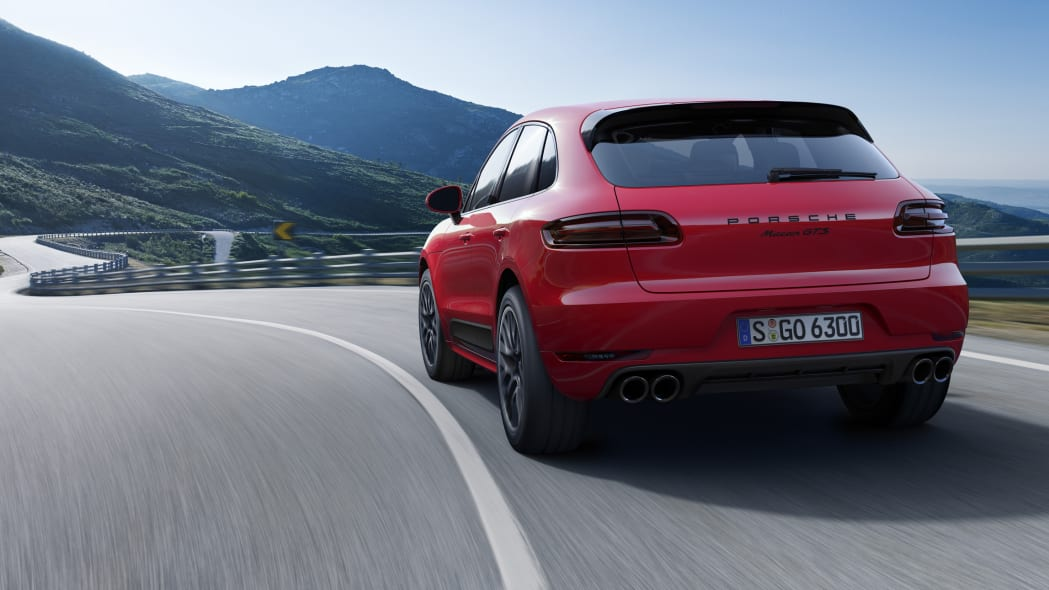 Porsche Macan GTS rear 3/4 road
