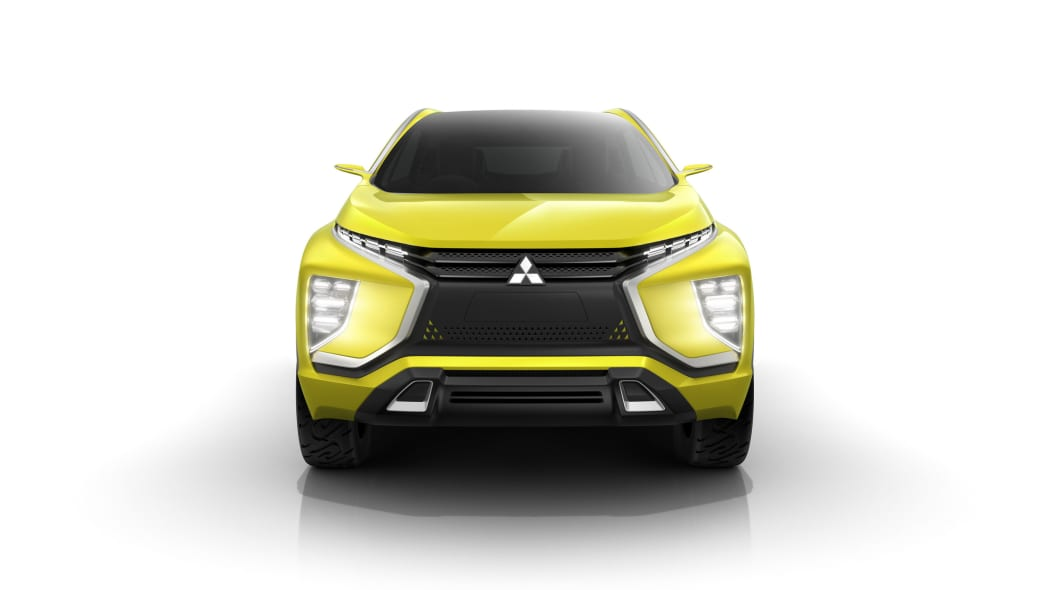 yellow mitsubishi ex concept  front white background
