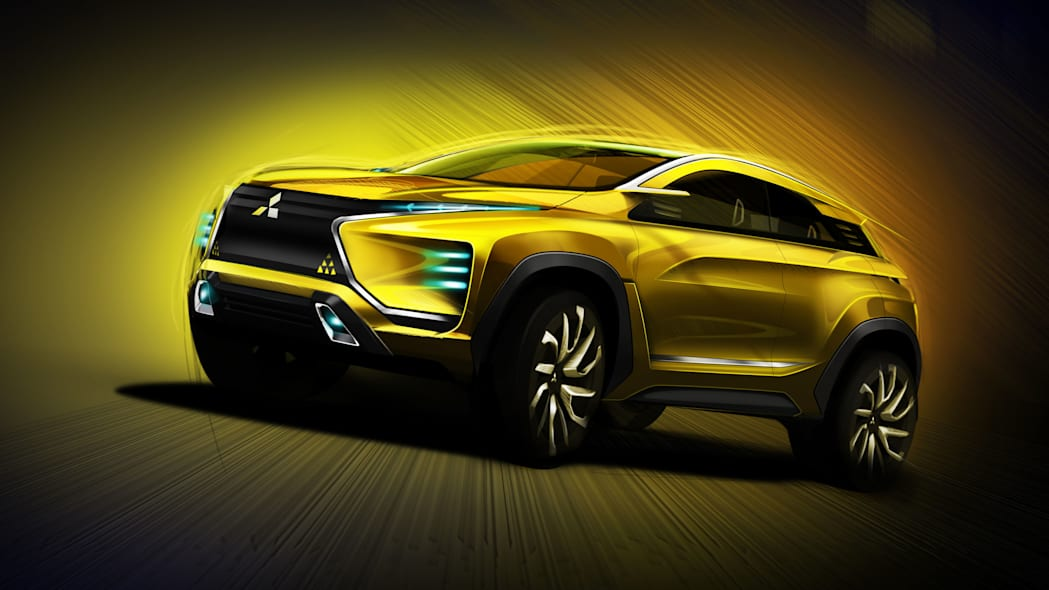 yellow mitsubishi ex concept rendering