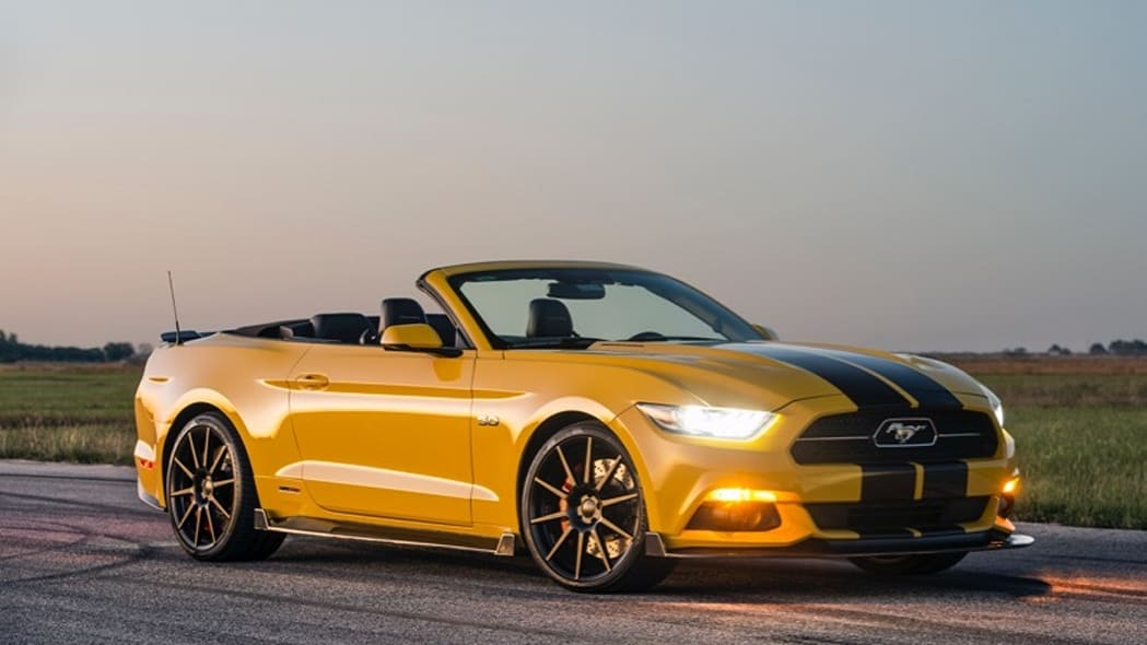 Hennessey Ford Mustang convertible front 3/4