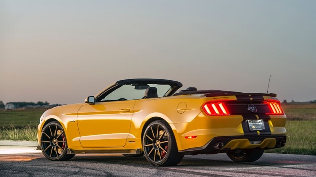 Hennessey Ford Mustang convertible rear 3/4