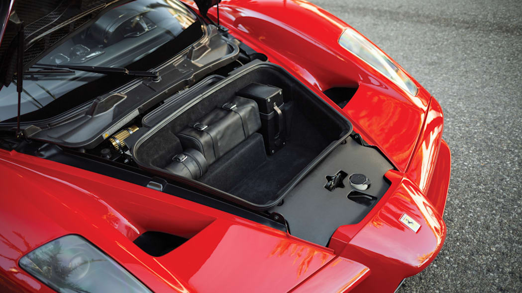 Floyd Mayweather 2003 Ferrari Enzo nose compartment open