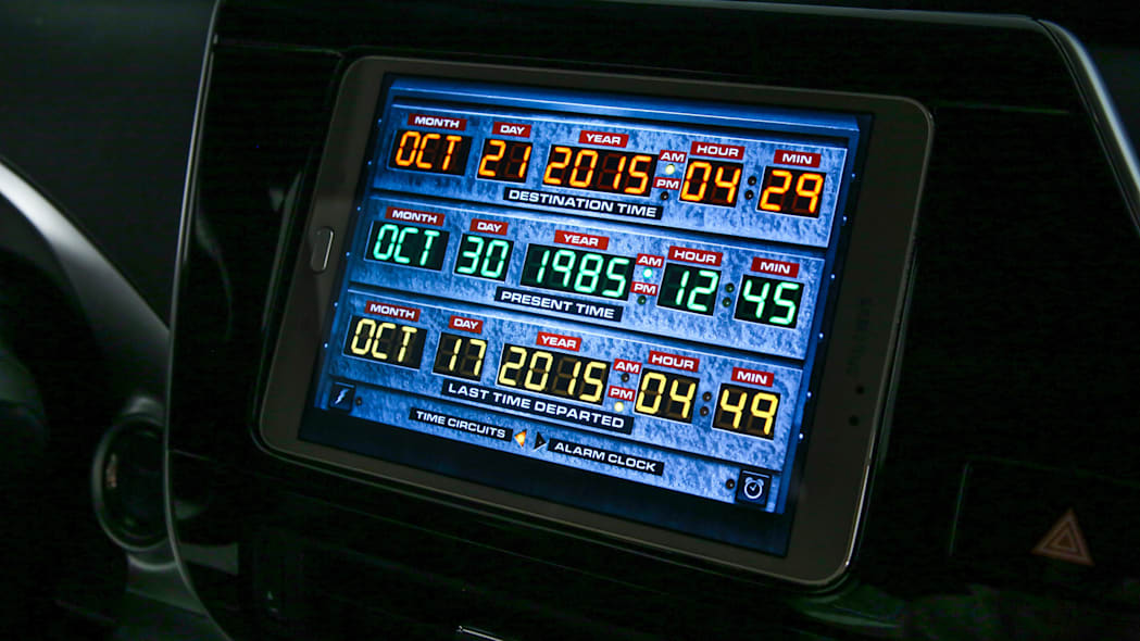 Toyota Mirai Back to the Future Concept date display time circuits
