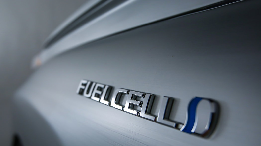Toyota Mirai Back to the Future Concept fuel cell badge