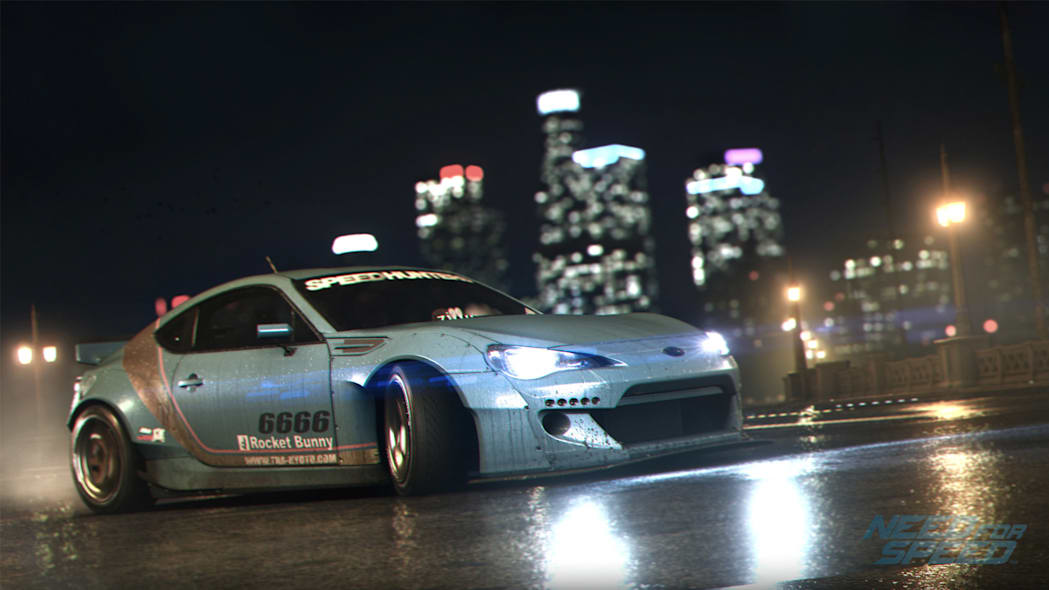 drifting subaru brz la night wet