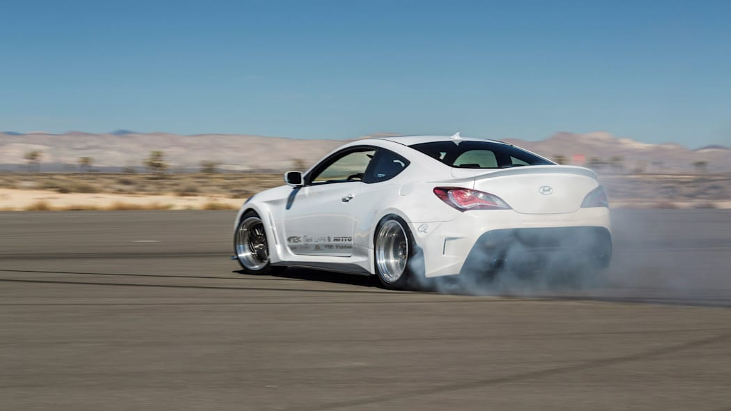 Hyundai Genesis Coupe Solus by ARK Performance drifting