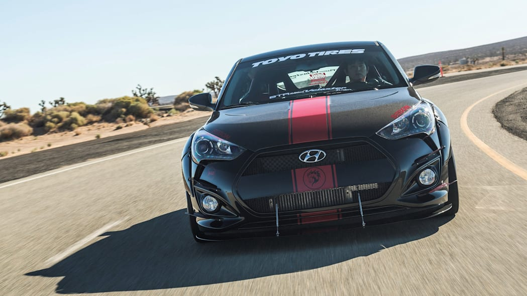 Hyundai Veloster Turbo R-Spec by Blood Type Racing front track