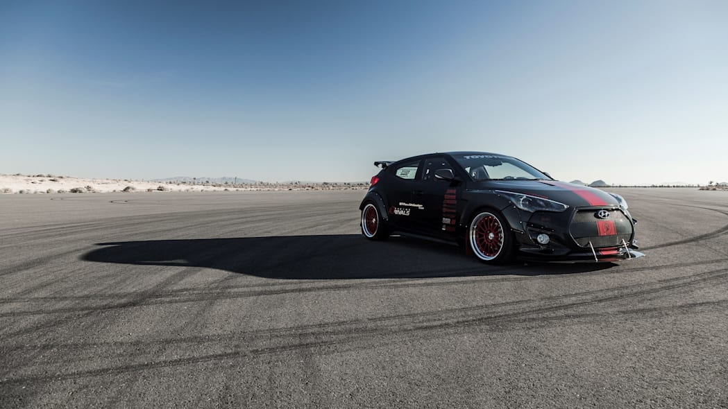 Hyundai Veloster Turbo R-Spec by Blood Type Racing front 3/4 static
