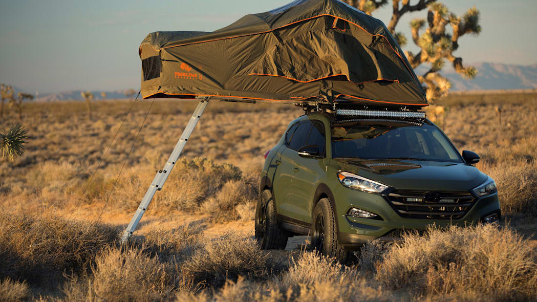 Hyundai Tucson JP Edition roof tent