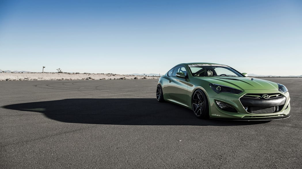Hyundai Genesis Coupe TJIN Edition static front 3/4