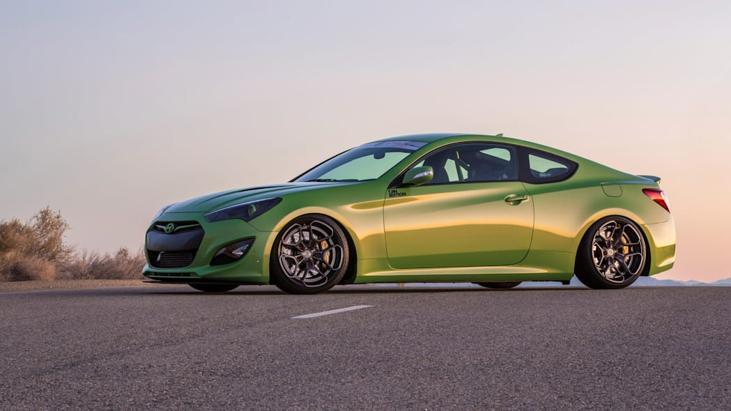 Hyundai Genesis Coupe TJIN Edition front 3/4