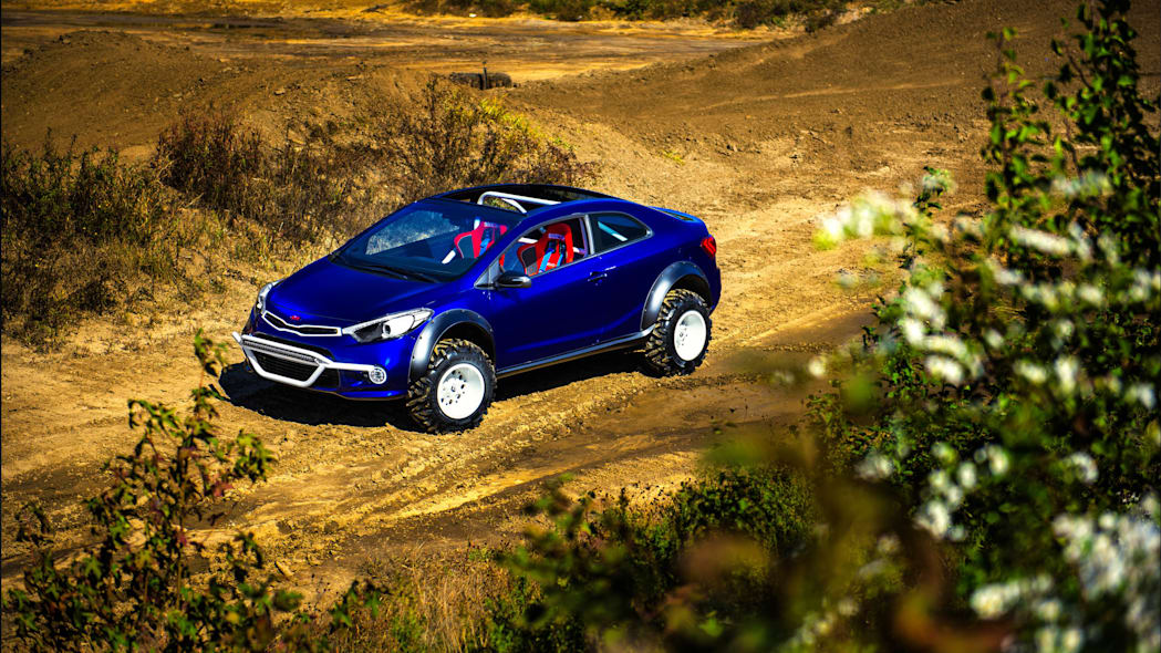 Kia Forte Koup Mud Bogger Concept above