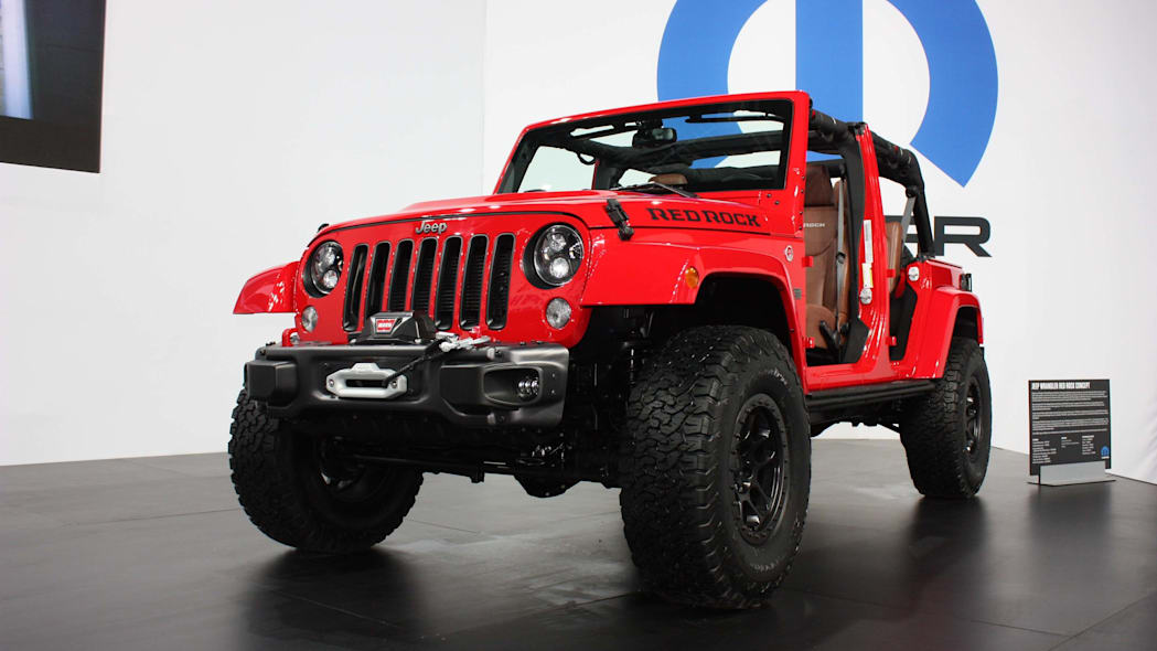 jeep wrangler red rock sema front