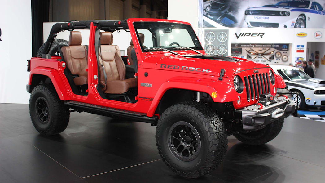 jeep wrangler red rock sema side