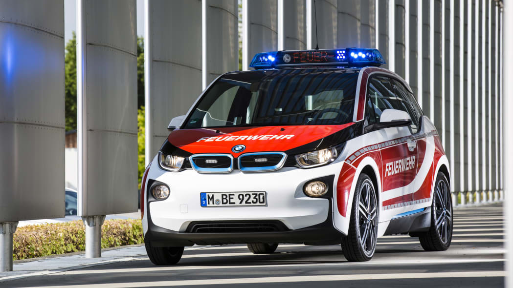 BMW i3 fire vehicle front germany