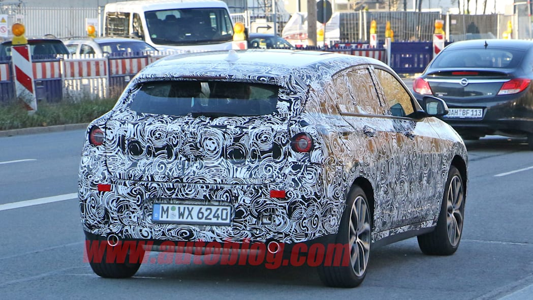 camouflage rear taillights bmw x2 spied
