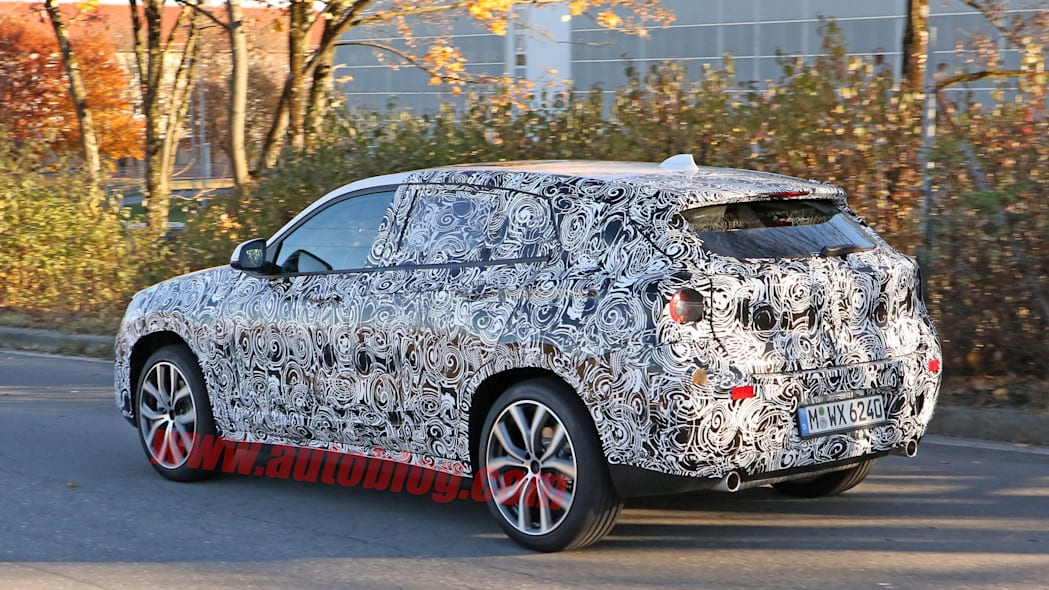 camouflage spied crossover bmw x2