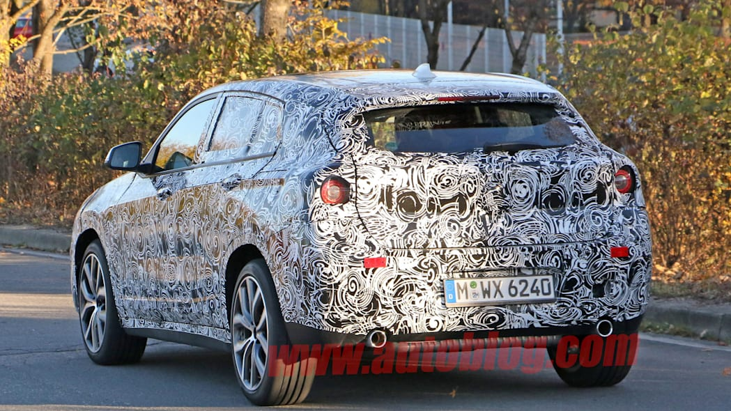 rear taillights camouflage spied bmw x2