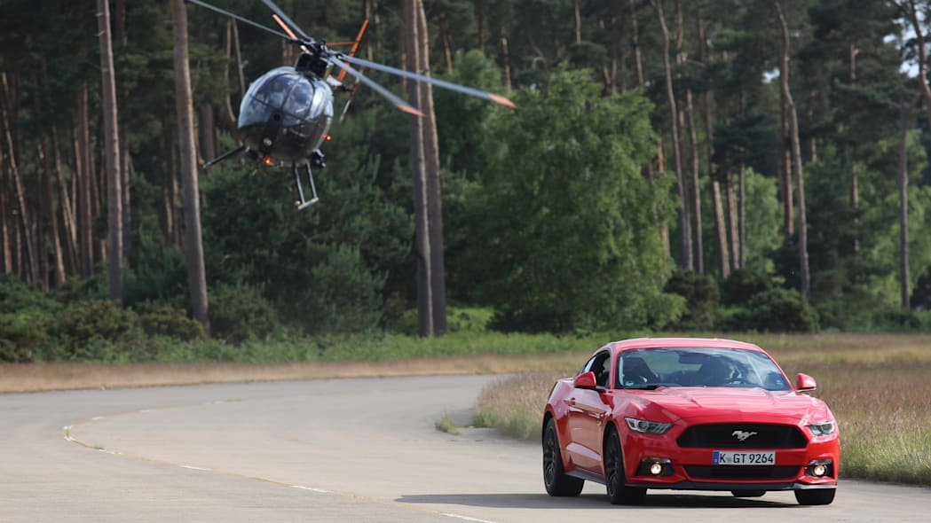 Ford Mustang Ben Collins Stunt Driver helicopter