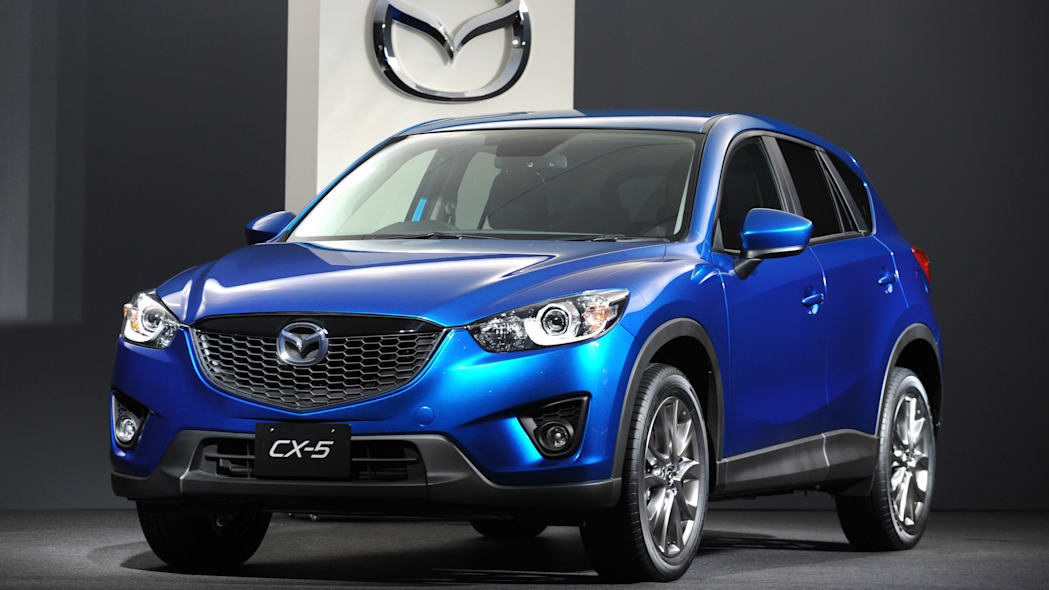 Mazda CX-5 crossover SUV in blue