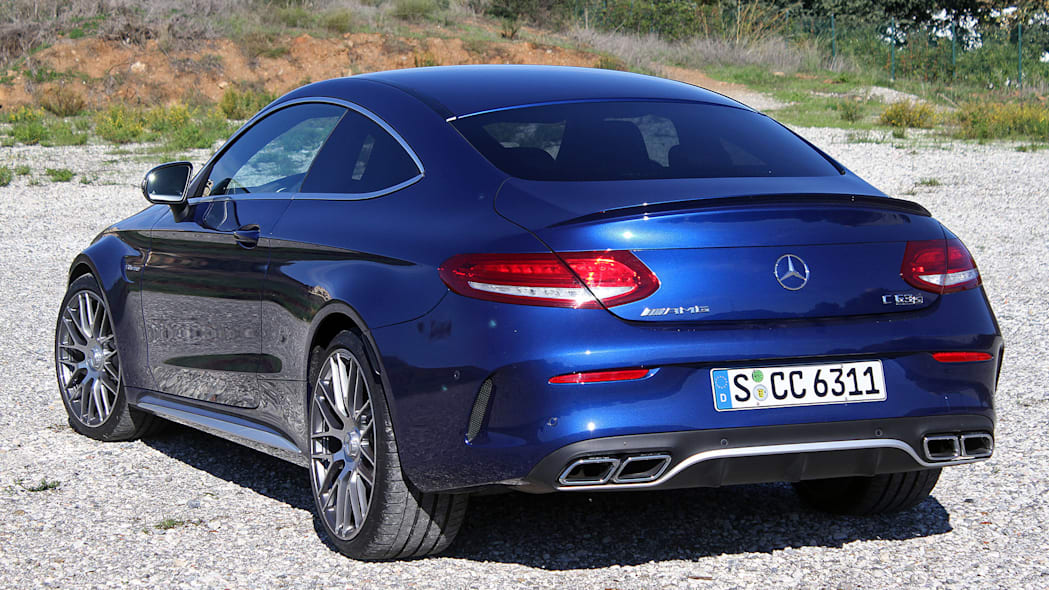 2017 Mercedes-AMG C63 Coupe rear 3/4 view