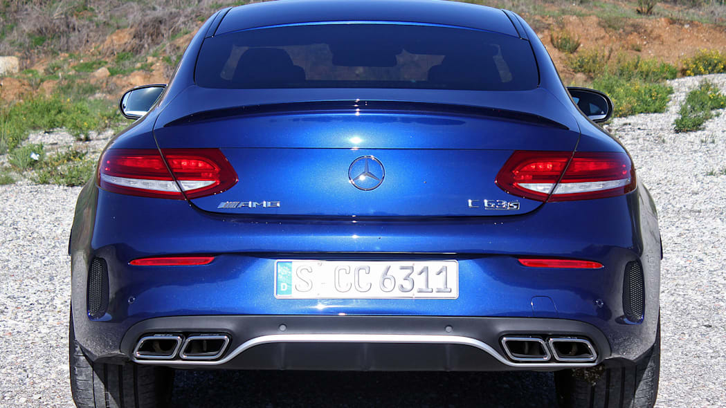 2017 Mercedes-AMG C63 Coupe rear view