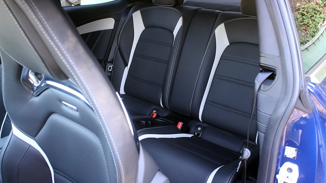 2017 Mercedes-AMG C63 Coupe rear seats
