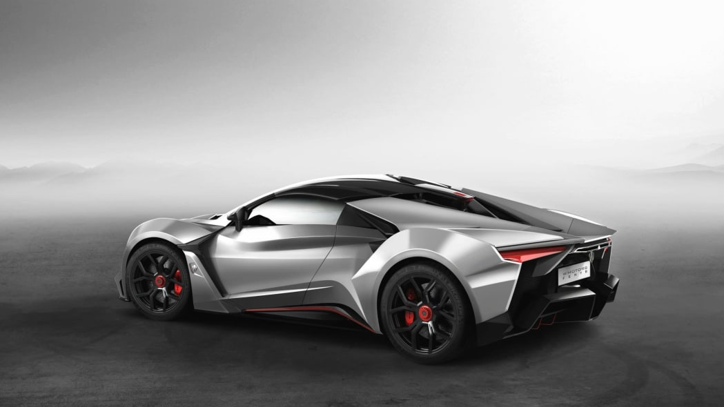 W Motors Fenyr SuperSport static silver rear 3/4
