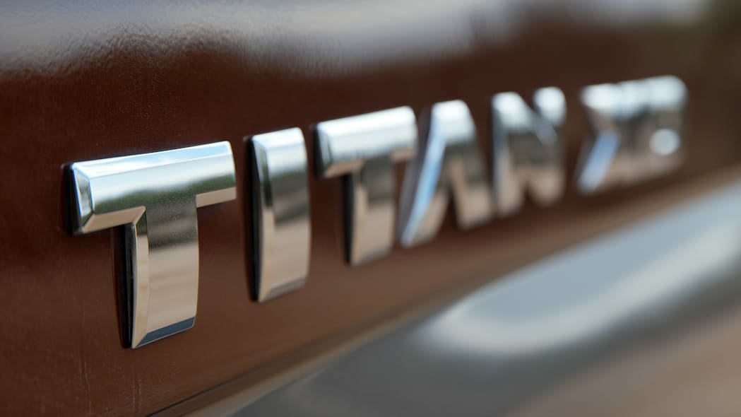 2016 Nissan Titan badge