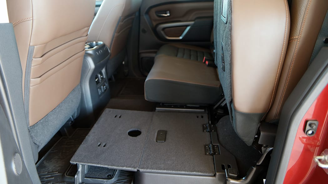 2016 Nissan Titan folded rear seat