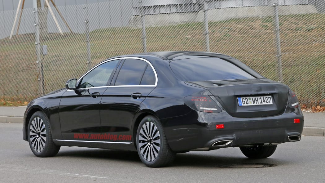 The 2017 Mercedes E-Class, spy shot.