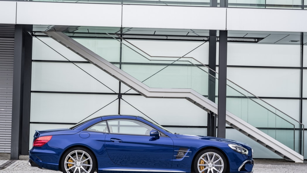 blue 2017 mercedes sl top up profile