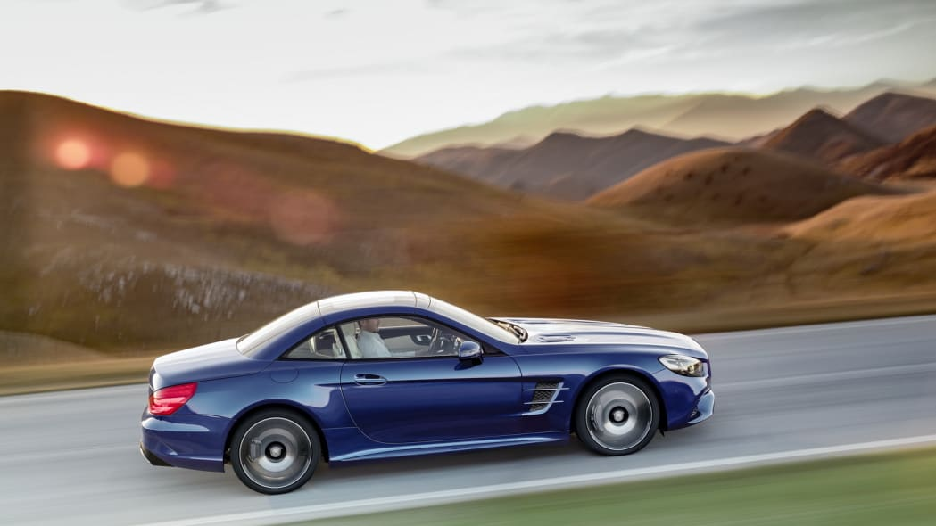 blue 2017 mercedes sl profile top up