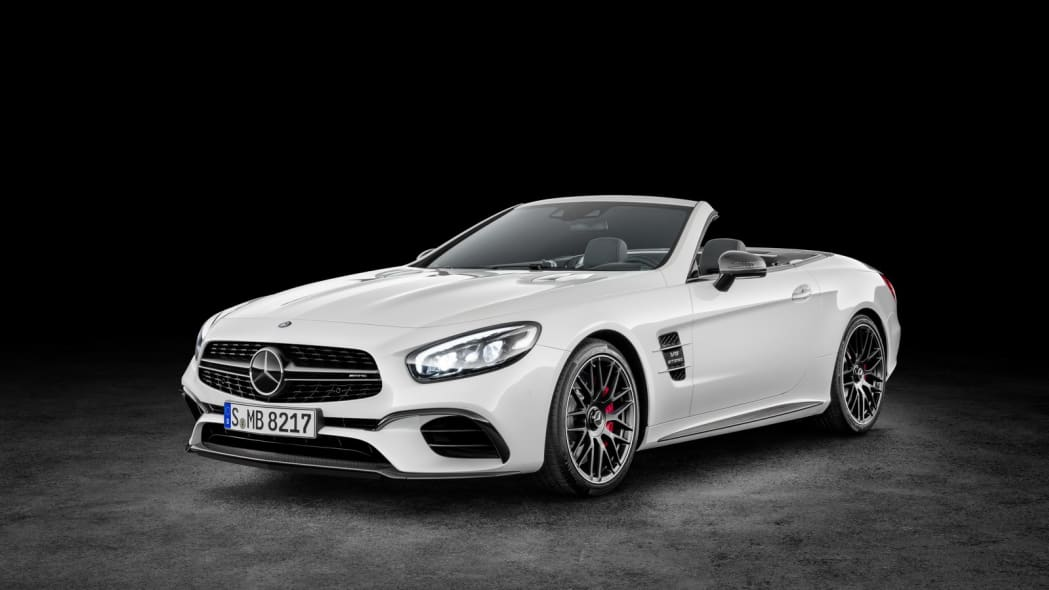 white 2017 mercedes sl studio