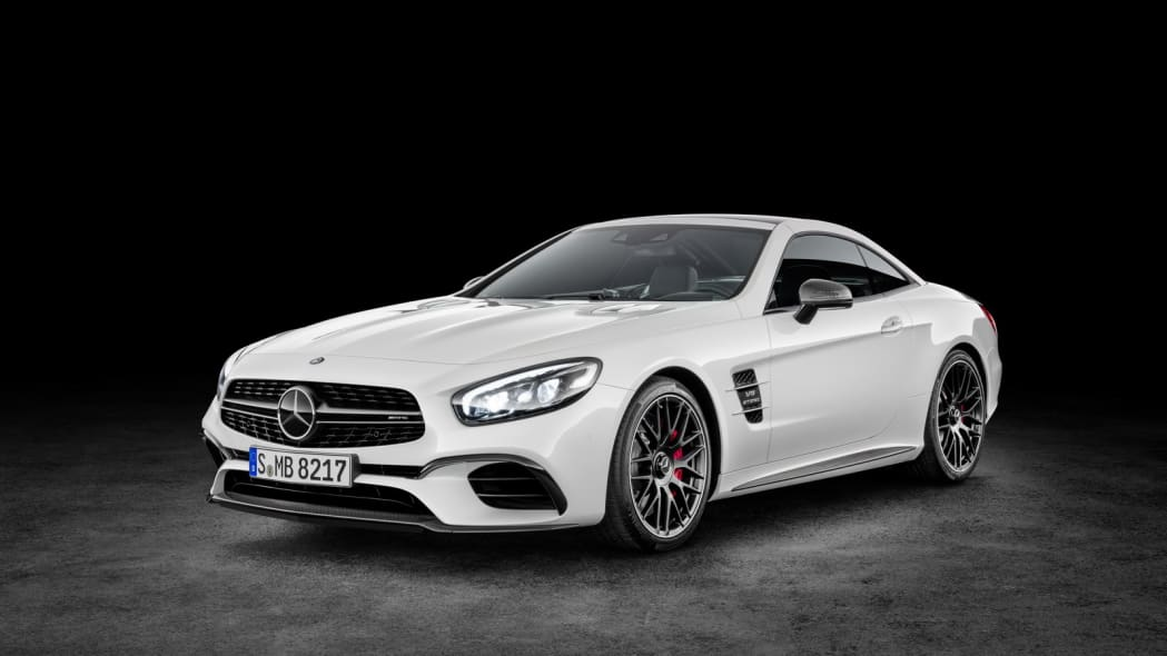 white 2017 mercedes sl top up