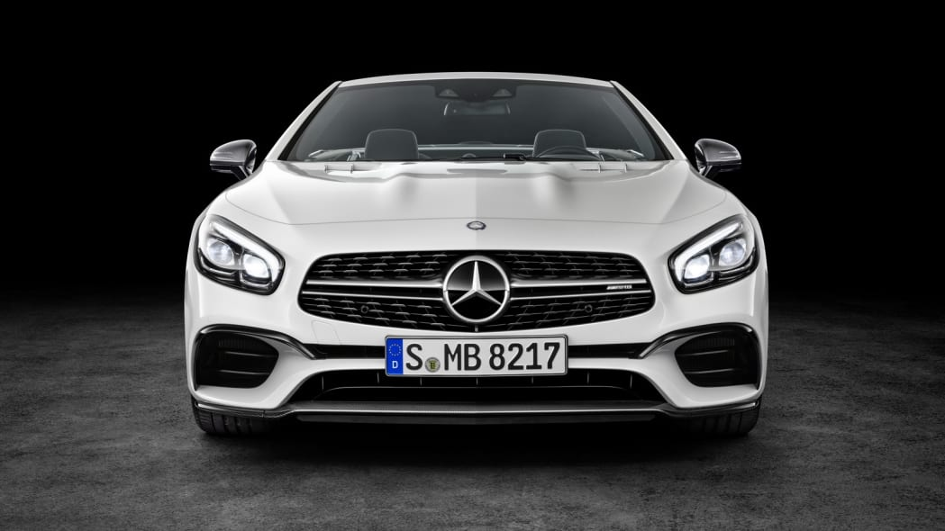 white 2017 mercedes sl  front studio