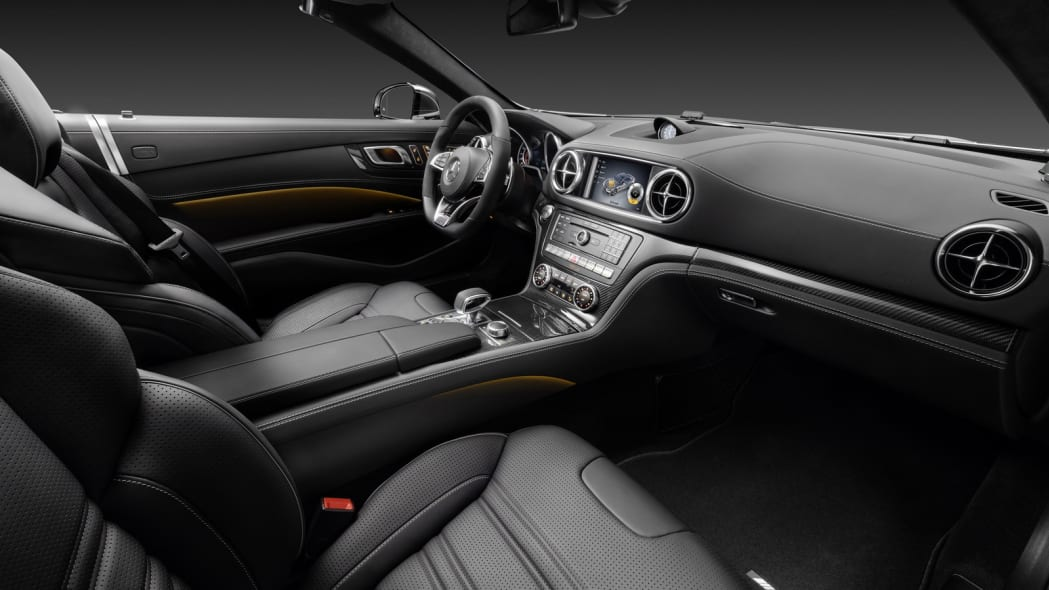 2017 mercedes sl interior black leather