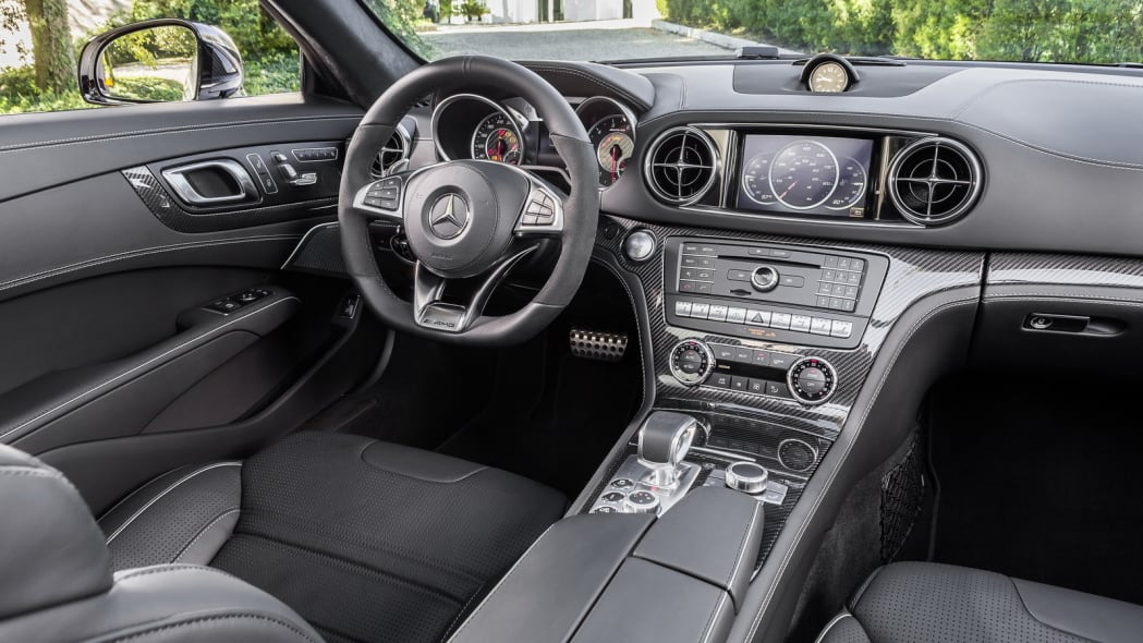 2017 mercedes sl interior three quarters