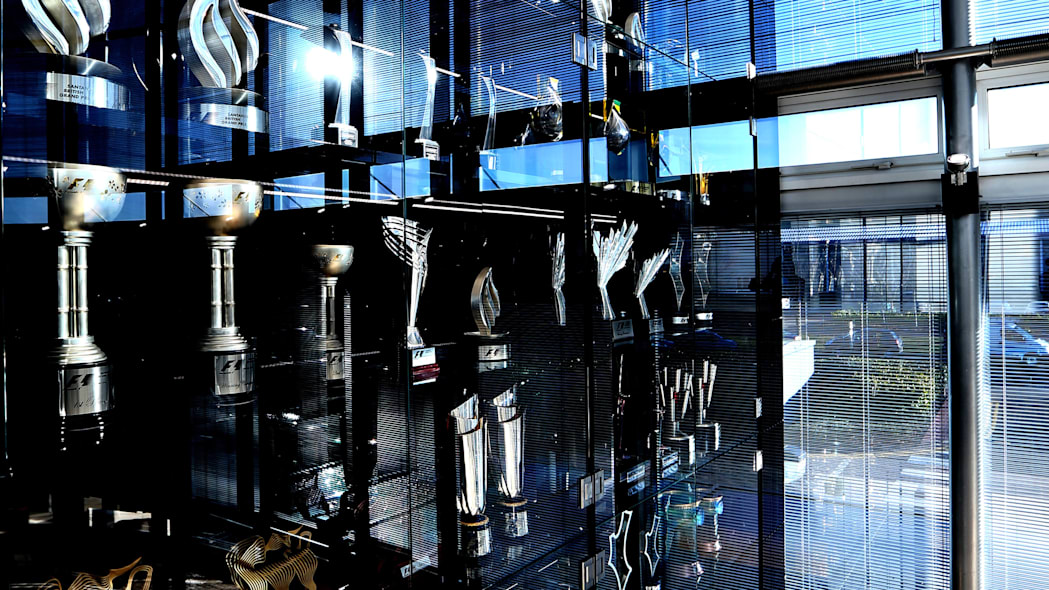 Red Bull Racing F1 trophies