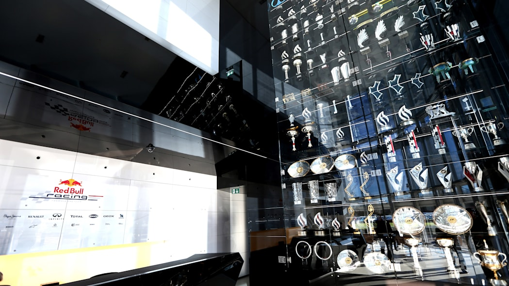 Red Bull Racing trophy case