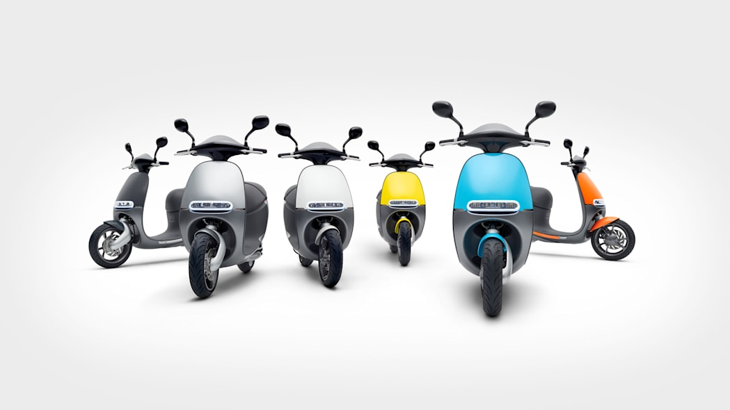Pack of Gogoro Smartscooters