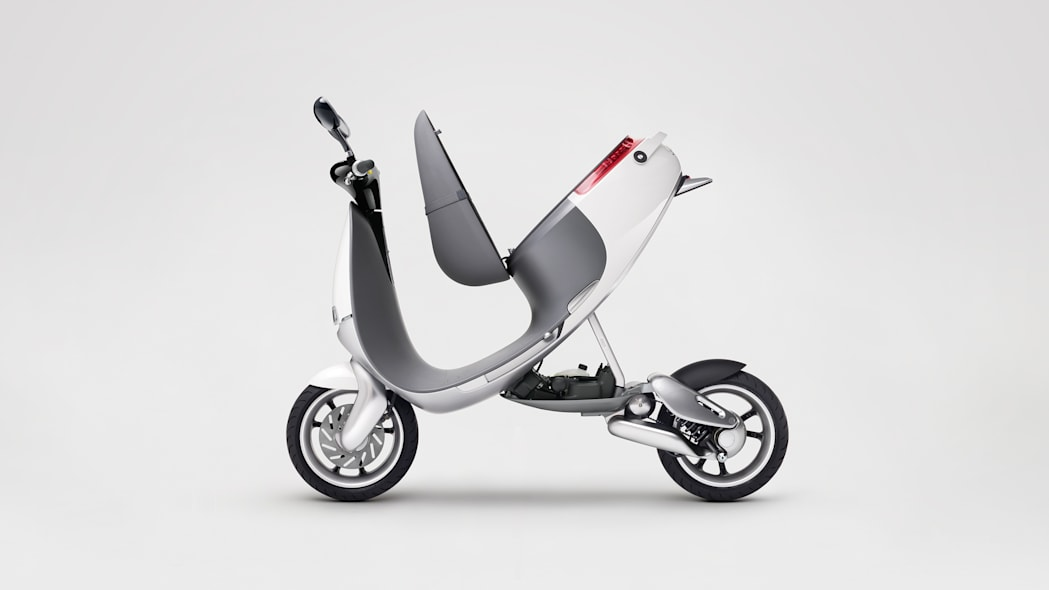 Gogoro Smartscooter side profile exposed