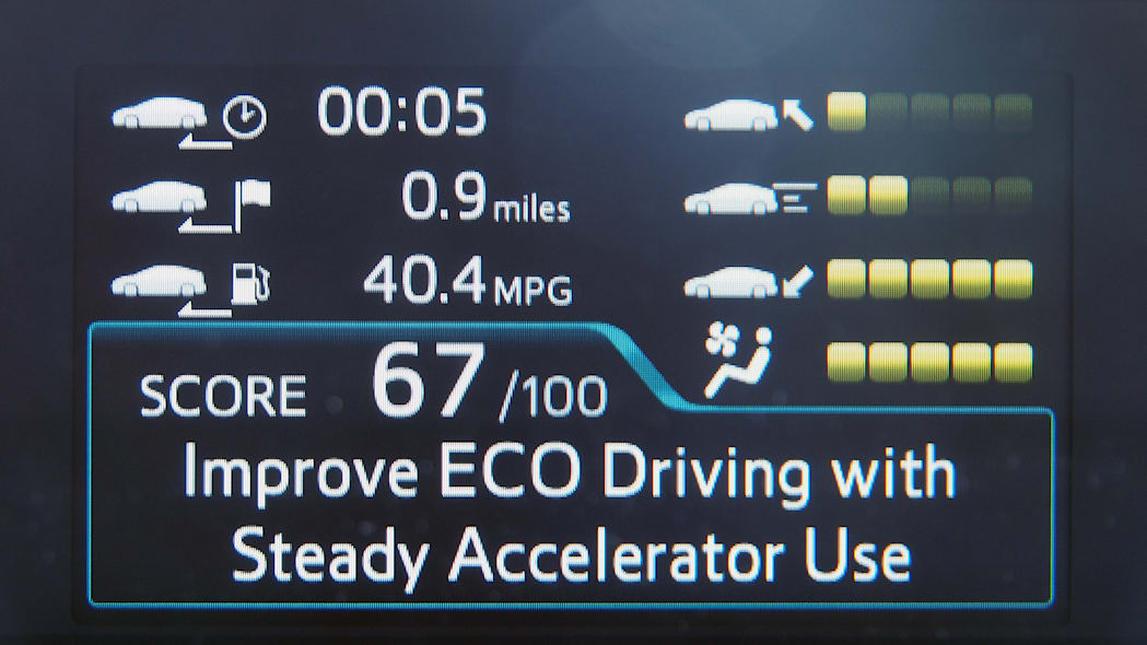 2016 Toyota Prius fuel economy display