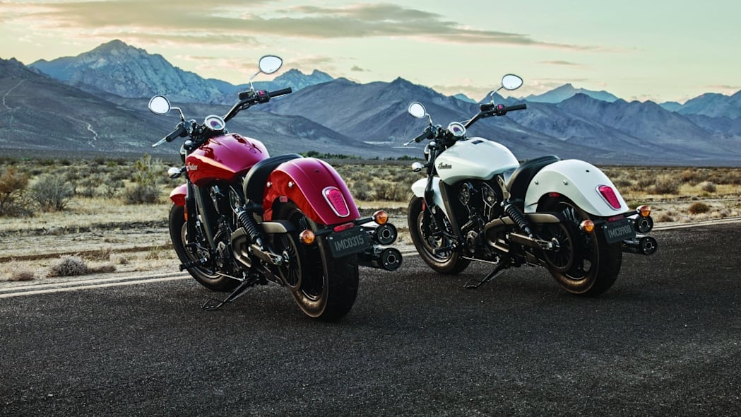 2016 indian scout sixty red and white rear