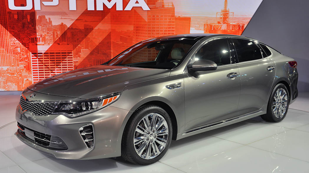 2016 Kia Optima sedan in grey