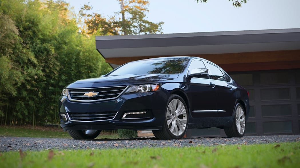 2016 Chevy Impala sedan in dark blue