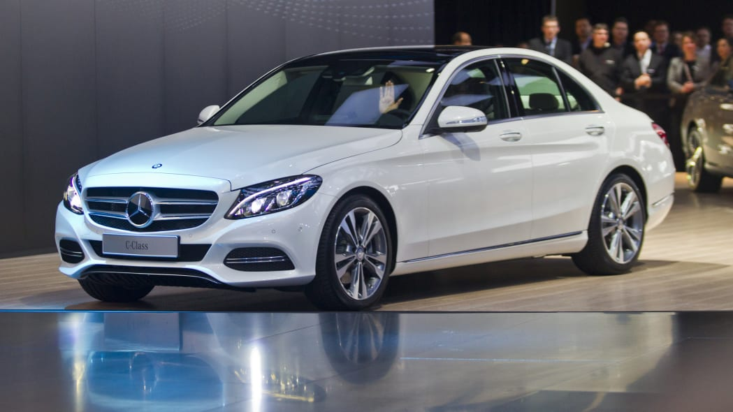 2016 Mercedes C-Class sedan in white